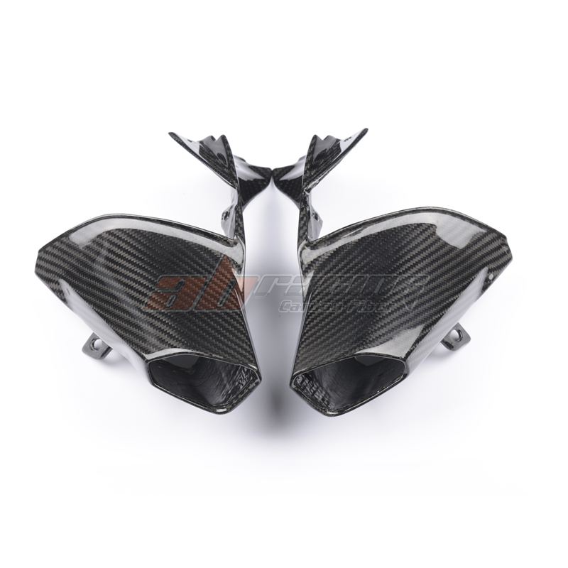 Front Air Intake Vent Ram Tubes Fairing Cowl For BMW R1200R  2015-2018 Full Carbon Fiber, 100% Twill