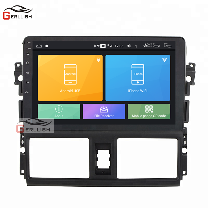 Touch Screen Android Car Dvd Player Audio Stereo For Toyota Yaris Vios 2014 2015 2016 2017 Gps Navigation