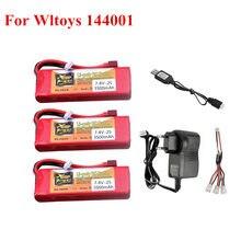 144001 carro 2s 7.4 v 3500mah lipo bateria t plug para wltoys 1/14 144001 rc carro barco lipo bateria com carregador