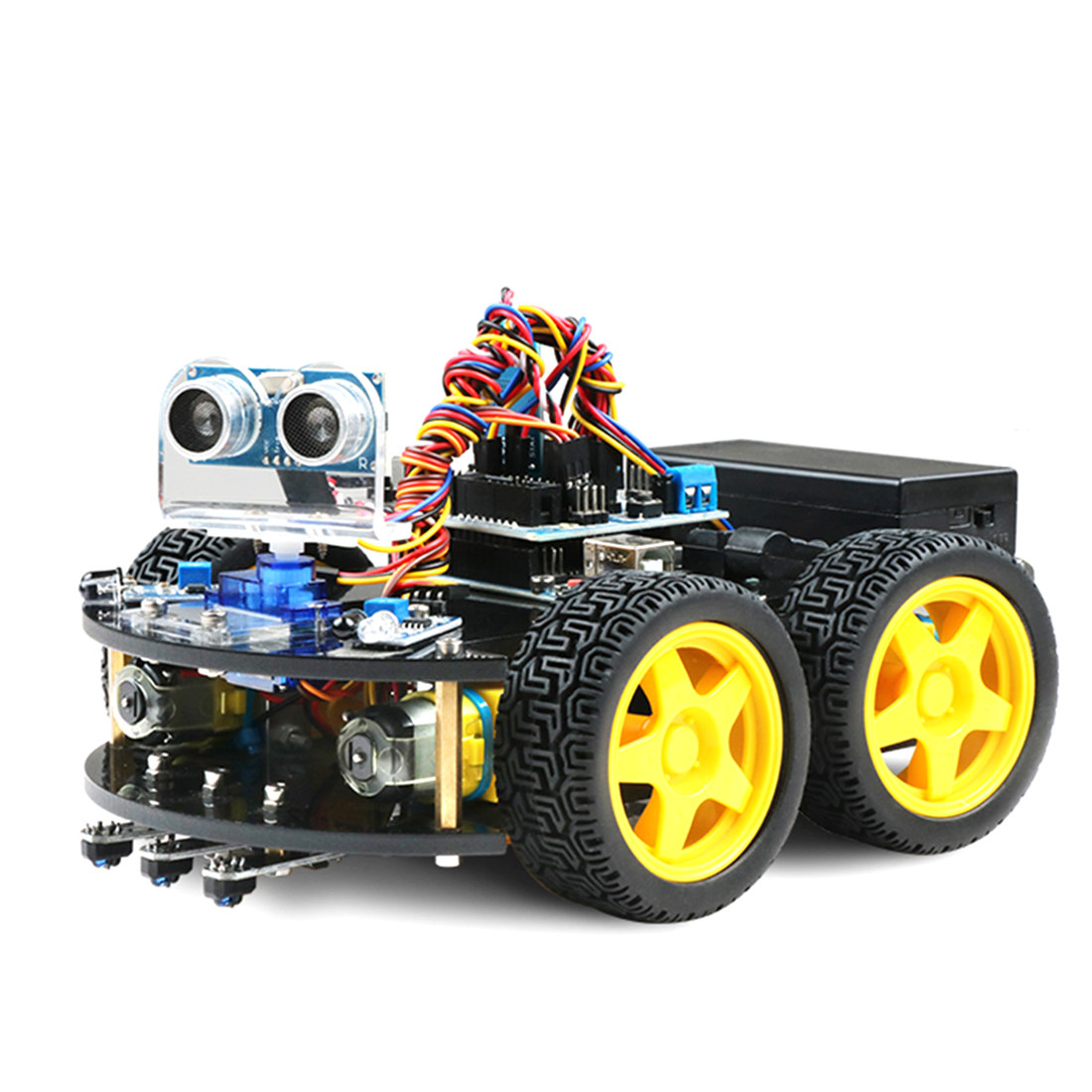 DIY Obstacle Avoidance Smart Programmable Robot Car Educational Learning Kit For BLE
