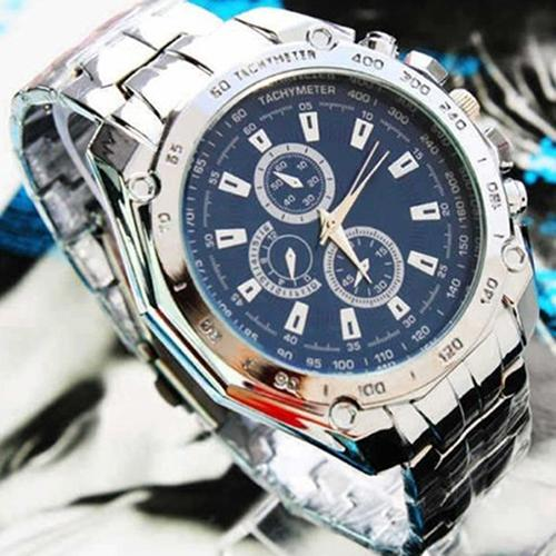 Fashion Men Stainless Steel Quartz Analog Sport Wrist Watch Father's Day Gift Watches Men Sport Watches Men's Quartz Clock Man