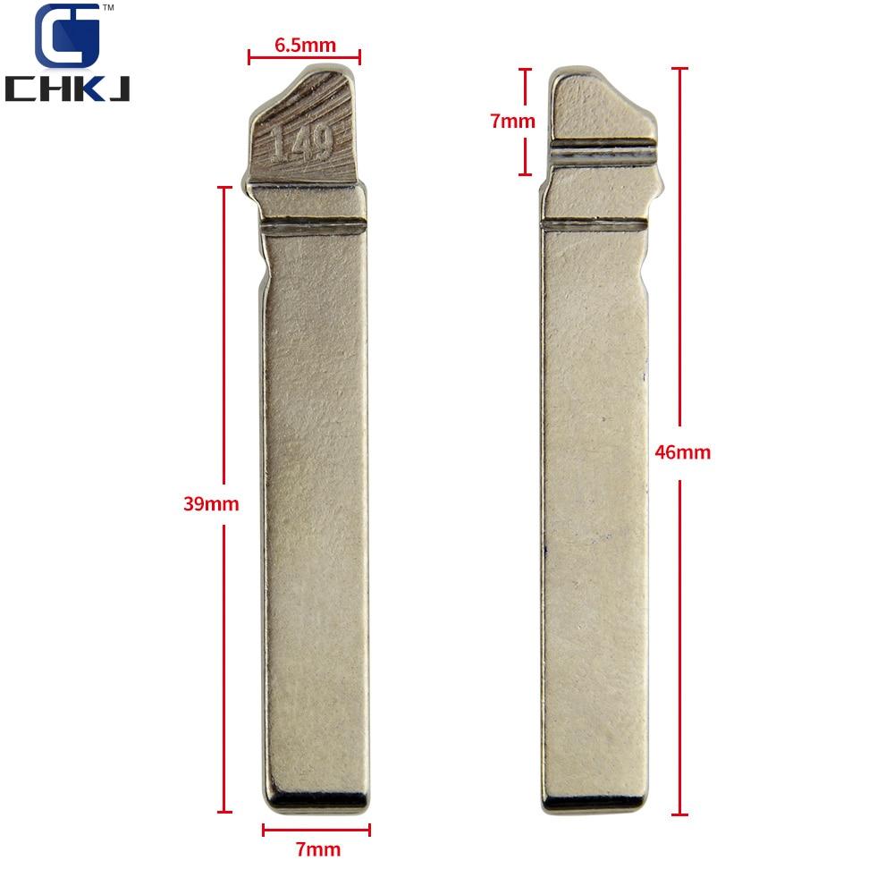 CHKJ 10PCS/LOT HU162T Replacement Flip Folding Remote Key Blade NO.149 Car Key Blank For VW Golf 7 Sportsvan