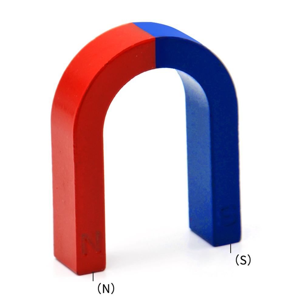 Physics Experiment U Shaped Horseshoe Magnet Pole Red N Blue S Painted Physics Toy Science Experiment Improve Physics Teaching