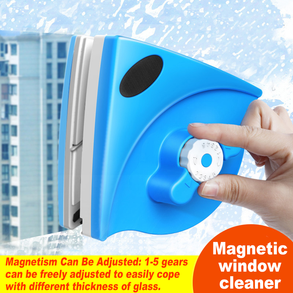 With Ruler 5-25mm Wiper Double Sided Adjustable Glass Sweeping Sewing Machine Durable Surface Brush Magnetic Window Cleaner