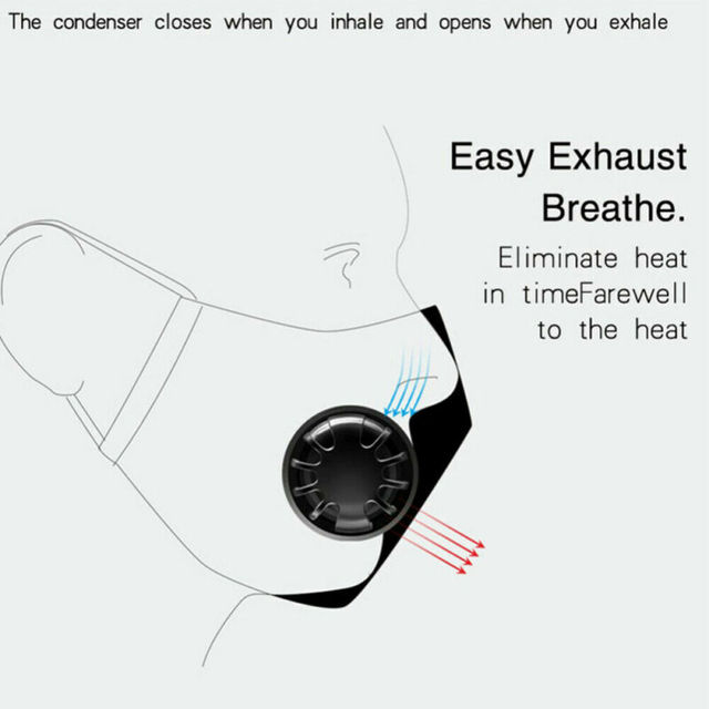 Cotton PM2.5 anti dust mask Black mouth Mask Activated carbon filter Windproof Mouth-muffle bacteria proof Flu Face masks Care 4