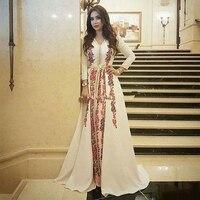 Eightree Kaftan Evening Dresses Dubai Lace Appliques Mother Prom Dresses Arabic Long Sleevs Muslim Special Occasion Dresses