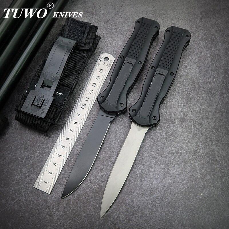 Ножи TUWO, микро карманный нож OTF/UT D2, лезвие, авиационная алюминиевая ручка, для кемпинга, выживания, для повседневного использования, охоты, тактический инструмент|Ножи| | АлиЭкспресс