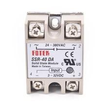 3-32vdc a 24-380vac SSR-40DA módulo de relé de estado sólido SSR-40 da ssr 40a para o transformador de tensão do controlador de temperatura pid