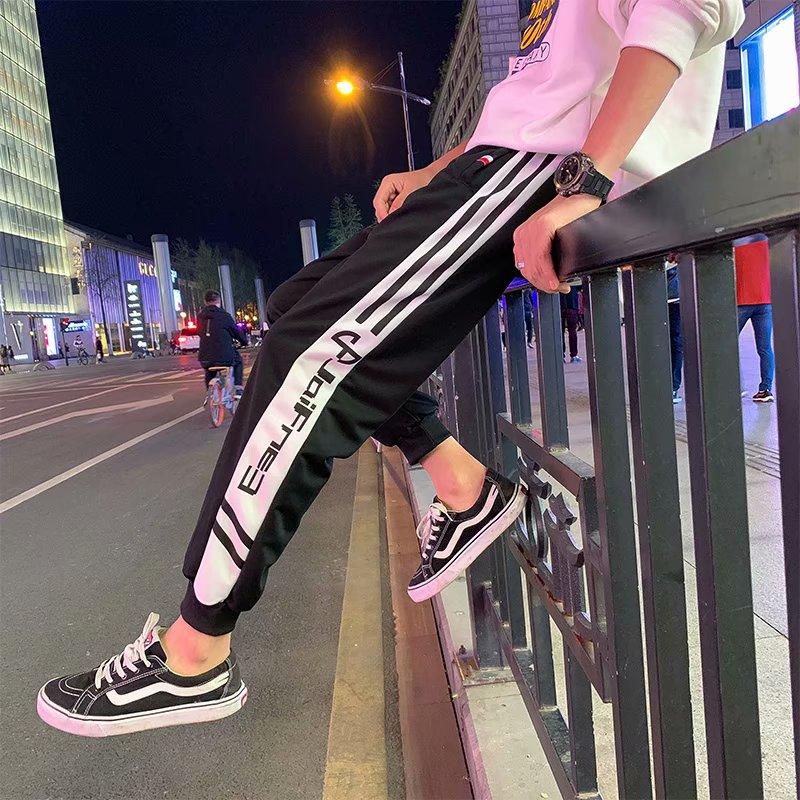 2019 Mens Joggers Sweatpants Casual Pants  Loose Version of Small Leg