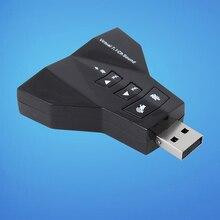 USB 2,0 Звуковая карта 7,1 канал внешний Виртуальный двойной адаптер микрофон динамик Звуковая карта