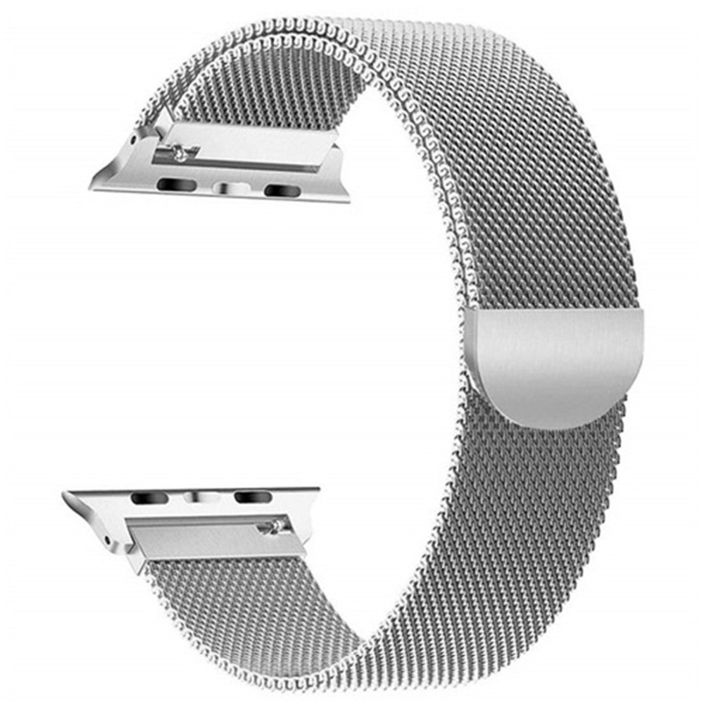Stainless Steel strap for <font><b>apple</b></font> <font><b>watch</b></font> 5 4 band <font><b>correa</b></font> applewatch 44mm 40mm <font><b>42mm</b></font> 38mm iwatch 5 4 <font><b>3</b></font> 2 1 Milanese loop belt image