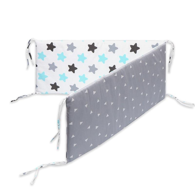 80*50 см детское гнездо кровать портативная кроватка дорожная кровать Младенческая Детская Хлопковая Колыбель для новорожденного Детская кровать люлька бампер - Цвет: 130X30cm-C1