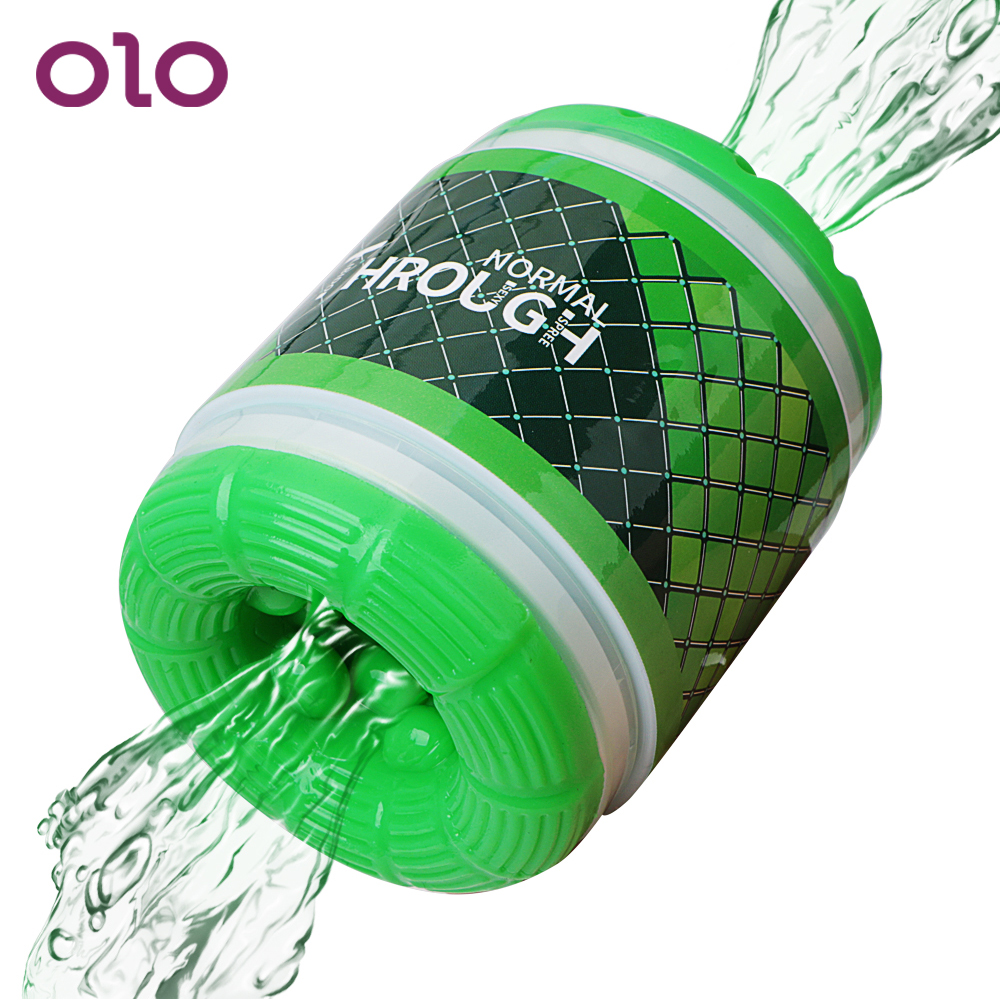 OLO Dual Channel Male Masturbator Blowjob Pussy Artificial Vagina TPE Masturbation Sex Toys For Men Adult Products