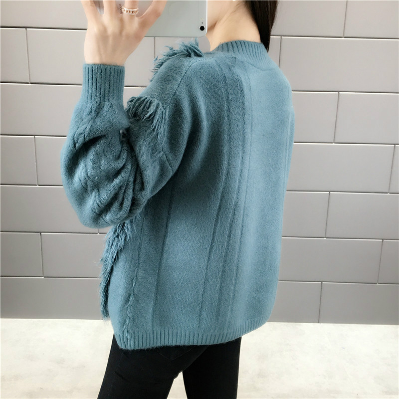 V neck Tassels Knitted Autumn Winter Women Sweater And Pullover Female Jumpers Tops Pull Femme sweter mujer invierno 2019