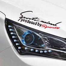 Reflecterende Sport Licht Wenkbrauw Auto Sticker Cover Sport Licht Wenkbrauw Sticker Handtekening Auto Sticker(China)