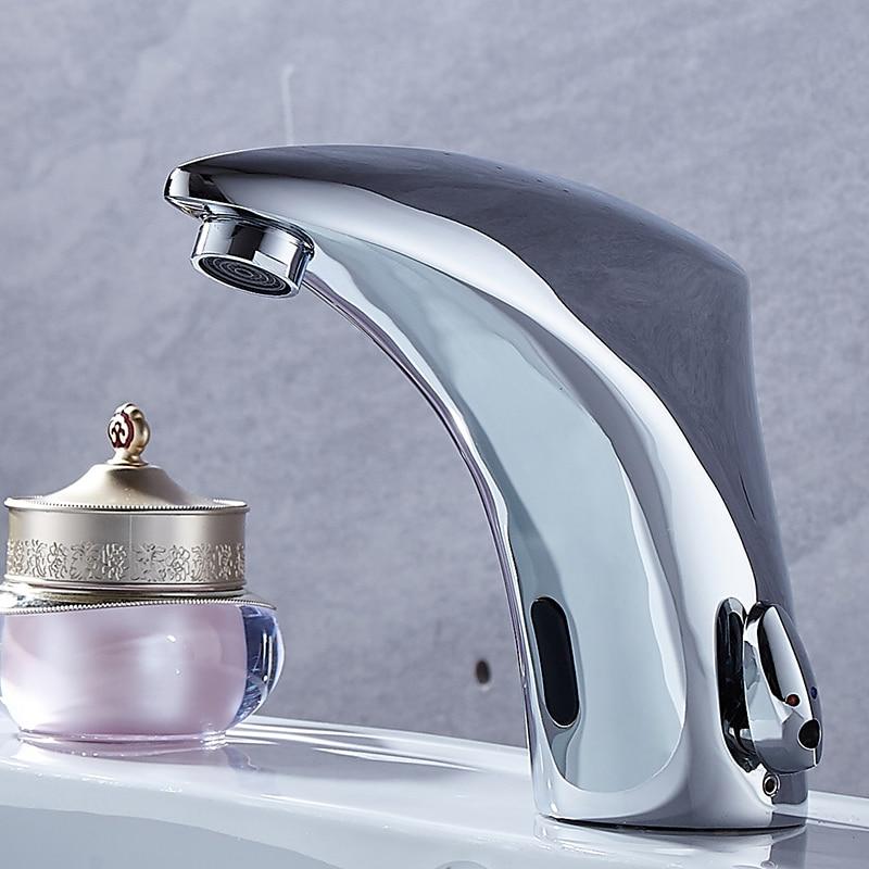 BAKALA NEW Hot & Cold Mixer Automatic  Sensor Tap Hand Touch Free Sensor Tap Faucet & Sink Tap Banheiro F-2028