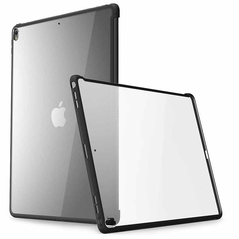 For iPad Pro 12.9 Case (2017 Release) i-Blason Clear Hybrid Cover Case,Compatible with Official Smart Cover / Smart Keyboard