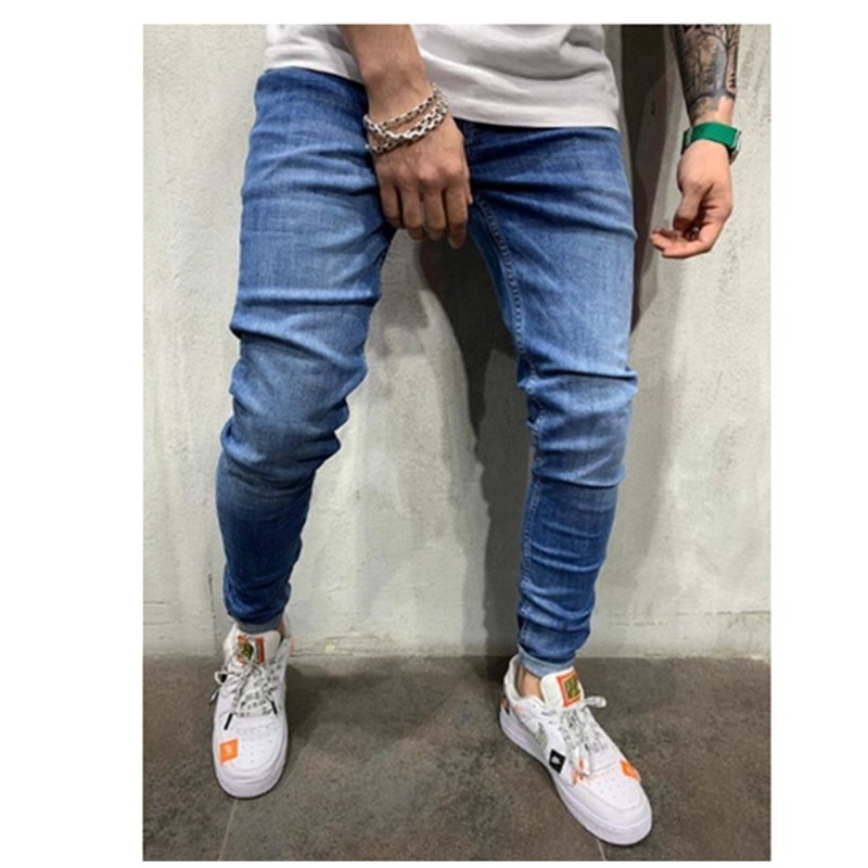 2020 Autumn New Men Jeans Black Classic Fashion Designer Denim Skinny Jeans Men's Casual High Quality  Jogging; Pencil Pants