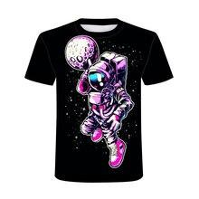 Летние космический рисунок, футболка для мужчин 3D с короткими рукавами, о-образным вырезом на шее, с рисунком футболки высококачественные ш...