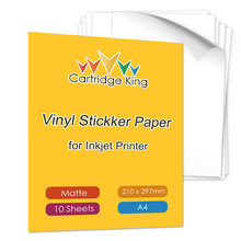Sticker Paper Inkjet-Printer Matte A4 10-Sheets for DIY Motorcycle Cartoon Suitcase Decals