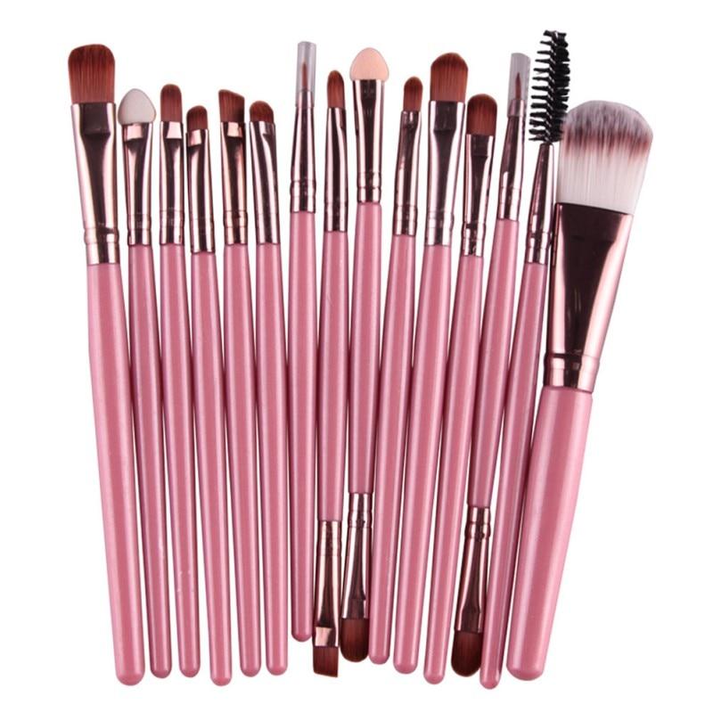 Cosmetic Multifunction Makeup Brushes Set Kit 15 Pcs Foundation Eyeshadow Eyeliner Lip Make Up Eye Brushes Pincel Maquiagem Set in Eye Shadow Applicator from Beauty Health