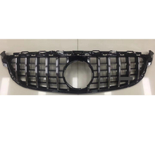 C63 GT Style ABS Front Bumper Mesh Grill Grille for Benz W205 C205 S205 C63s Amg Sedan Coupe Wagon Only 2015 up