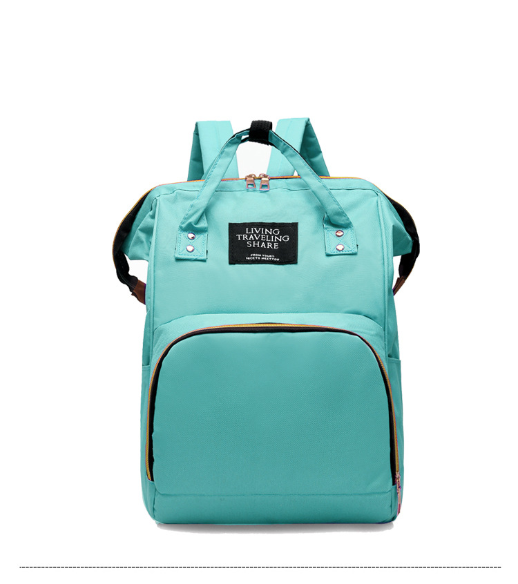 Customizable Diaper Bag Backpack Fashion Korean-style Oxford Cloth Large-Volume MOTHER'S Bag Baoma Nursing Travel Backpack