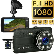 4.0inch Car Dvr Camera Dash Cam IPS Screen Full HD 1080P Auto Registrator Dual Lens Night Vision With Reverse Camera Mirror