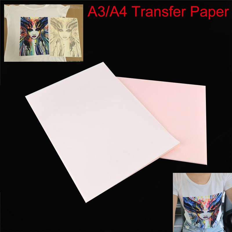 A4 Heat Transfer Paper Light Fabric Cloth Painting DIY T-Shirt for Coated Cups Metal Glass Colorful Rendition Iron-On Heat Press