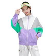 Модная весенняя куртка для девочек; Лоскутные куртки; Осенние
