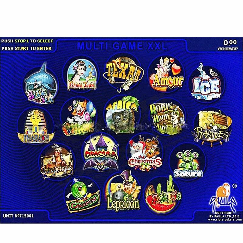 Игровая машина для азартных игр, красная плата для казино, многоигровая печатная плата XXL 17 в 1, игровая печатная плата (40-96%)