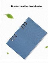 Caderno de notas do negócio do escritório da capa dura, a5 a6 a6 brilho perolado do falso de couro loose-leaf