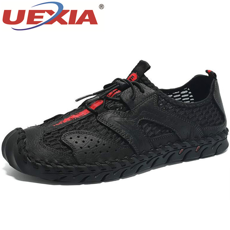 UEXIA New Men Breathable Mesh Men's Casual Shoes Outdoor Quick-drying Shoes Flats Light Shoes Comfortable Moccasins Male Shoes
