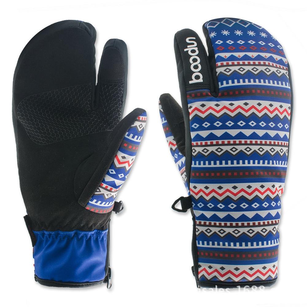 BOODUN New Winter Snowboard Gloves for Women Ski Gloves Windproof Waterproof Non-slip Skating Skiing Gloves Cotton Warm Mittens