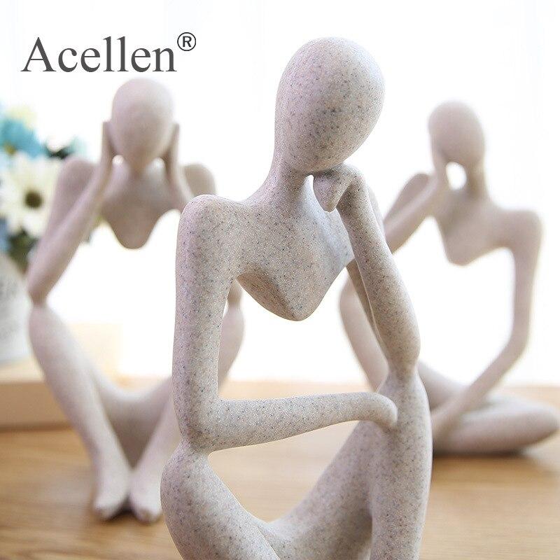Статуя абстрактного персонажа, украшение для дома, аксессуары, креативное украшение для гостиной, офиса, сандстоун, декоративная статуэтка,...