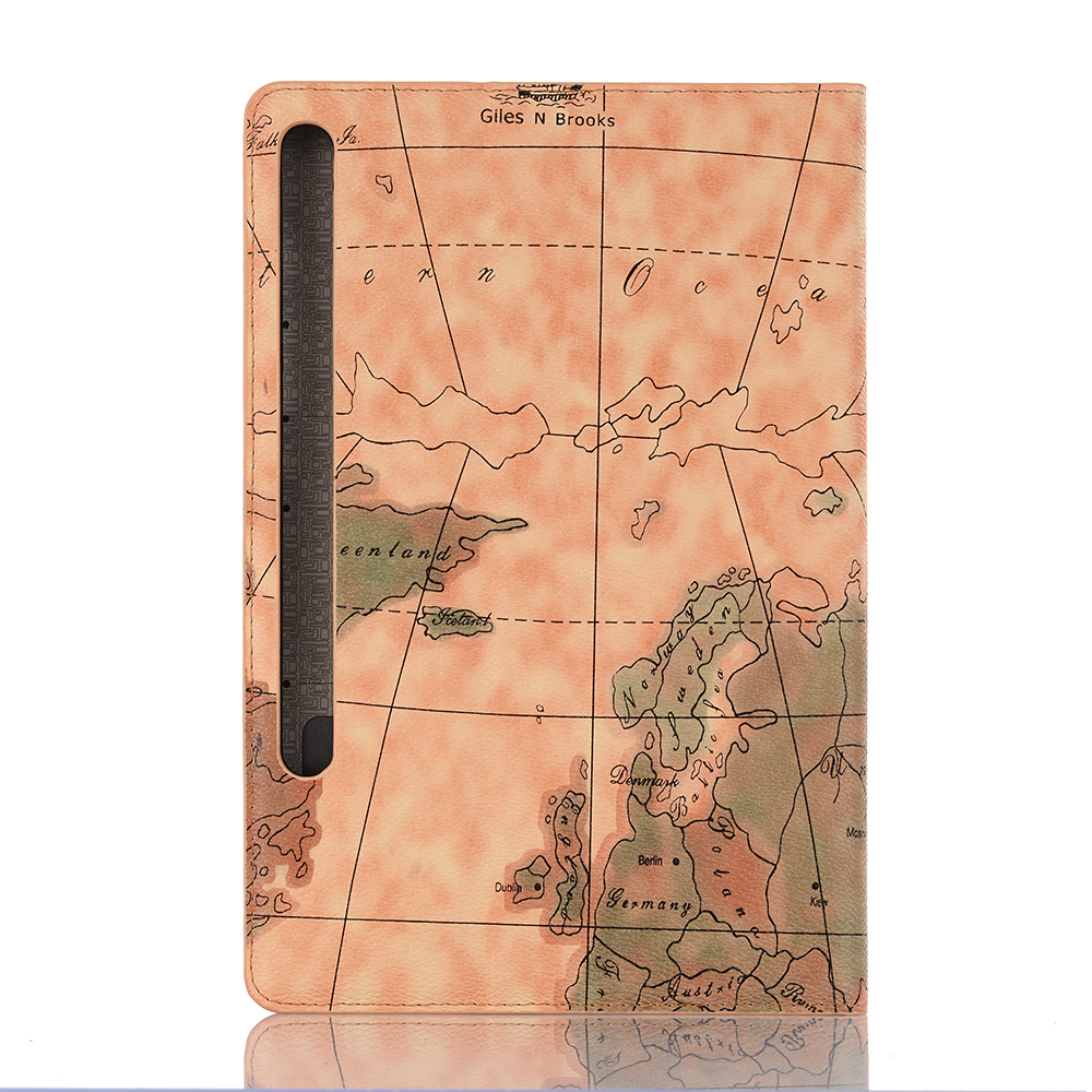 World Map Smart Case For Samsung Galaxy Tab S6 S 6 10.5 Inch 2019 SM T860 T865 SM-T865 SM-T860 Stand Function Card Slots Wallet Cover Bag