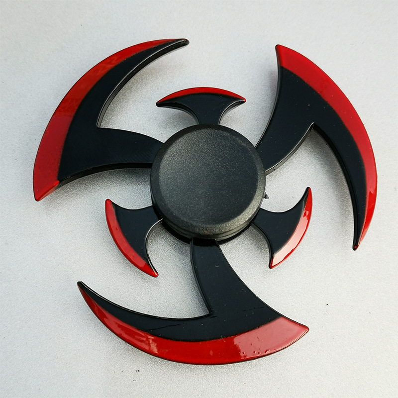 New Zinc Alloy Metal Fidget Spinner Creative Ninja Shuriken Darts Sharingan Shape Hand Spinner Gyro For Kids Stress Relief Toys