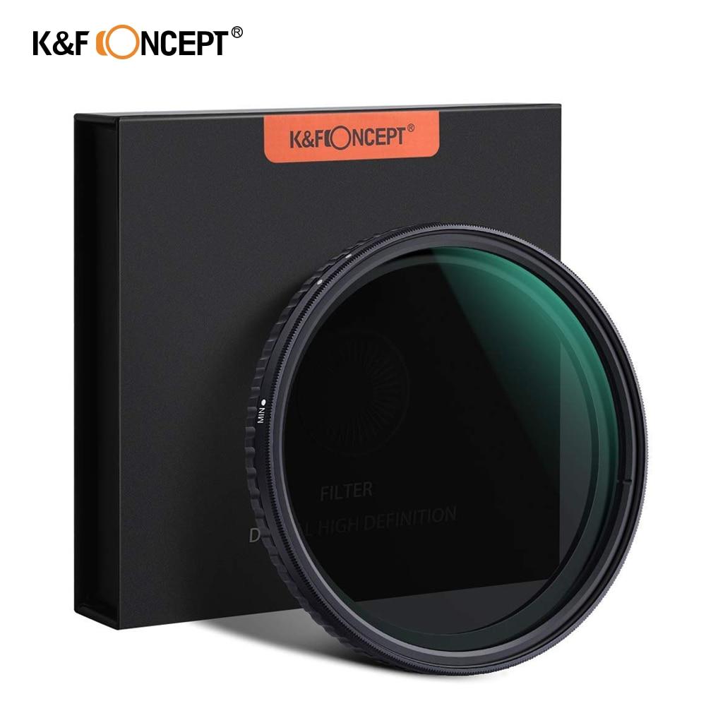 "K & F مفهوم 55 مللي متر 58 مللي متر 62 مللي متر 67 مللي متر 77 مللي متر Fader ND تصفية محايد كثافة متغير تصفية ND2 إلى ND32 للكاميرا سوني عدسة NO ""X"" بقعة"