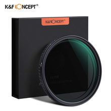 цена на K&F Concept 52/58/62/67/72/77/82mm Fader ND Filter Neutral Density Variable Filter ND2 to ND32 for lens NO