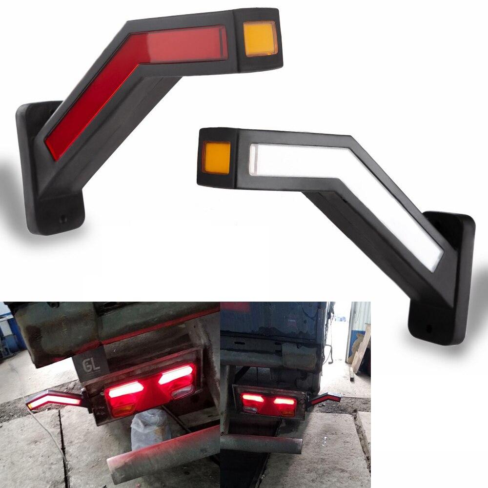 2 шт. грузовик боковой габаритный фонарь светильник ing прицеп Ван светодиодный светильник s Универсальный 12V 24V светодиодный неоновый стебель лампа Водонепроницаемый контурных светильник|Система освещения для грузовика|   | АлиЭкспресс