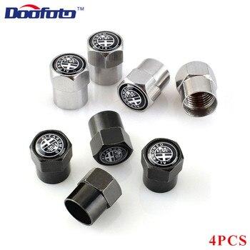Doofoto-capuchones para válvulas de rueda para coche, accesorios para Alfa Romeo 159...