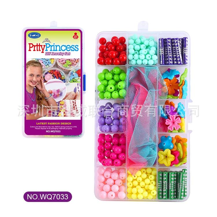 Children Handmade Beaded Bracelet Material Box DIY Heart Flower Colorful Box Plastic Box Creative Educational Toy