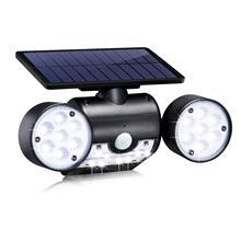 Водонепроницаемый настенный светильник Ночной светильник светодиодный светильник-вспышка интеллектуальный датчик Regolabile регулируемый угол солнечный датчик автоматический светильник