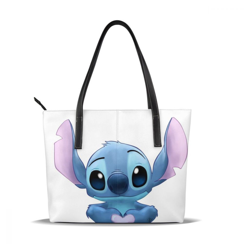 Lilo And Stitch Handbag Lilo And Stitch Top-handle Bags Women's High quality Leather Tote Bag Women Handbags