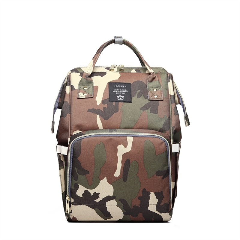 Camouflage Printing Baby Bag Stroller Diaper Bag Mummy Waterproof Maternity Backpack For Mom And Daddy Diapers Baby Care
