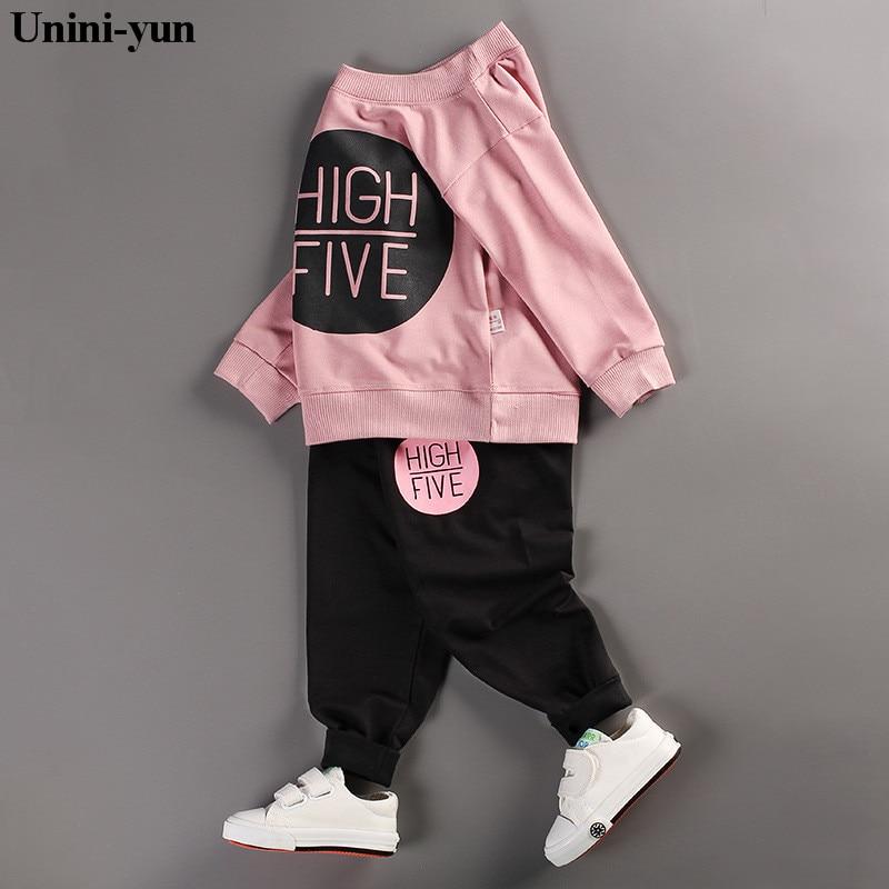 2018 New Autumn Children Baby Boys Girls Clothing Sets Tracksuit 2PCS Cotton Sport Suit Cartoon T-shirt+pants Kids Clothes Sets