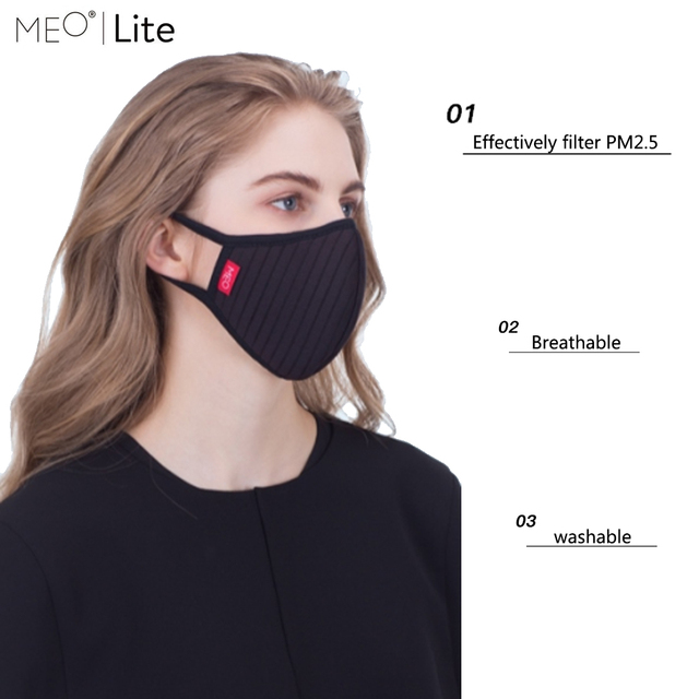 Spot MEO Fashion Mask Anti Haze Dust PM0.1 Breathable And Washable PM2.5 Filter karena walker mask With Filter For Adult 1