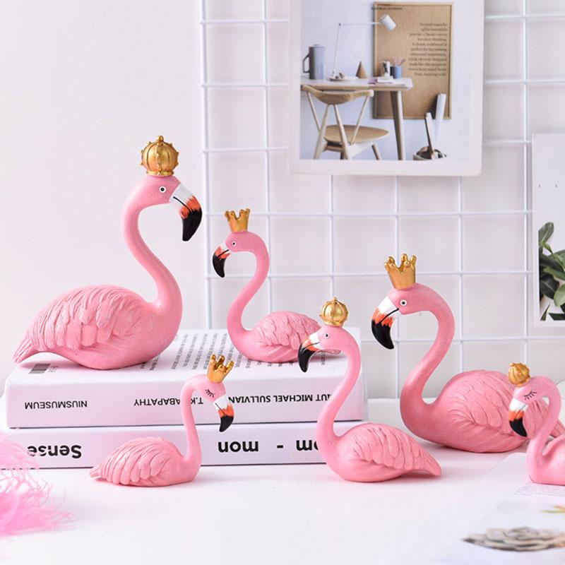 flamingo figurines home decoration accessories desktop decor birthday gift Fashion Wedding Ornaments Home Decor Crafts Ornaments|Statues & Sculptures| |  - title=