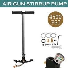 Pompe PCP Airgun 4500Psi pompe à main haute pression pompe à étrier à 3 étages pour pneus et pistolets pneumatiques pré-chargés