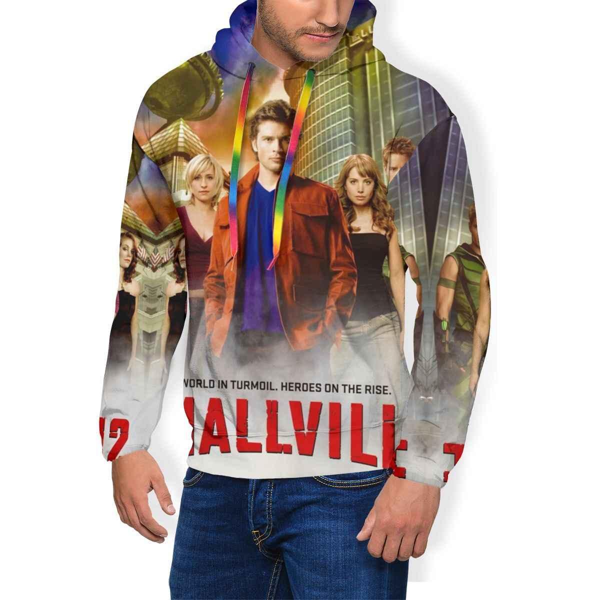 Smallville Толстовка Smallville ТВ серия толстовки мужские уличные пуловеры худи Популярные Синие Большие толстовки